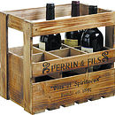 Six Bottle Wine Storage Crate