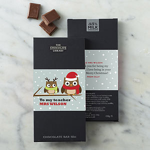 'Teacher' Christmas Personalised Chocolate - gifts for teachers