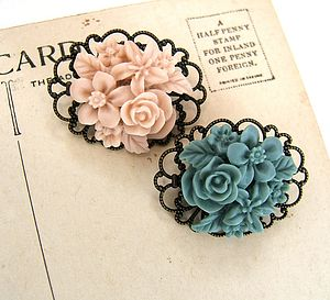 Vintage Style Posy Brooch - pins & brooches