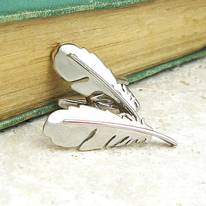 Feather Cufflinks - men's jewellery