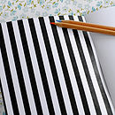 black and white illustration notebook inside