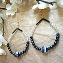 Striped Howlite Gemstone Hoops
