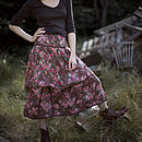 Freda pocket skirt in vintage rose brown