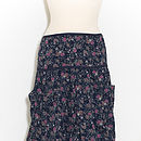 Freda pocket skirt in posy dark blue
