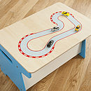 Race Track Toy Box And Desk