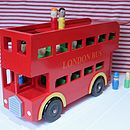 Large Wooden London Bus