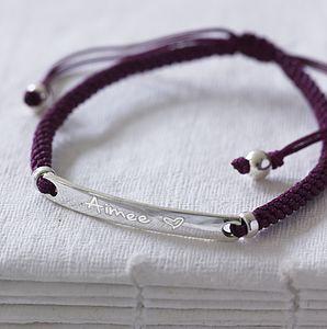 Personalised Message Bracelet - bracelets & bangles