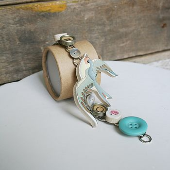 Personalised Ceramic Swallow Bracelet