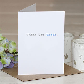 Personalised 'Thank You' Greetings Card