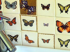 Butterfly Tiles - tiles & tile stickers