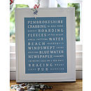 Personalised Holiday Memories Print