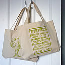 Fish Supper shopper tote bag