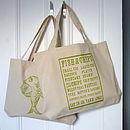 Fish Supper shopper tote bag