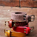 Vintaged 'Blake' Skinny Leather Belt