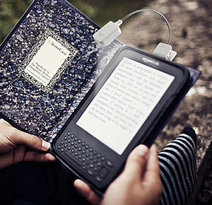 Classic Book Kindle Cover Plus Reading Light