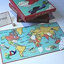 Thumb air race board game