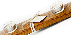 Barrel Stave Tea Light Holder - candles & home fragrance