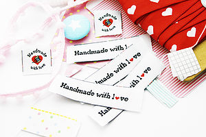 Set Of Six 'Handmade With Love' Labels