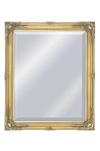 Classic Gold Swept Frame Mirror - bedroom