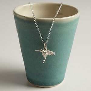 Personalised Silver Hummingbird Necklace - necklaces & pendants