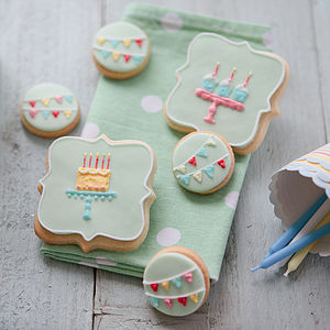 Happy Birthday Biscuit Gift Box - 60th birthday gifts