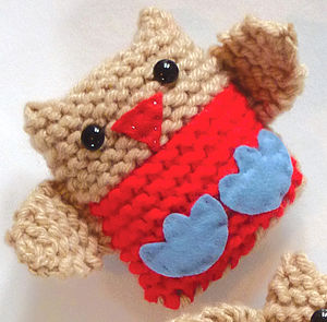Jingly Robins Learn To Knit Kit - gifts for knitters