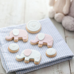 New Baby Boy Biscuit Gift Box - sweet treats