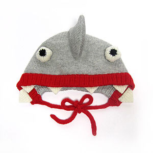 Knitted Shark Hat - toys & games