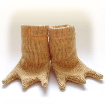 Knitted Chicken Feet Booties