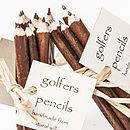 Set Of Five Golfers Pencils