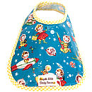 RETRO ROCKET RASCALS OIL CLOTH BIB
