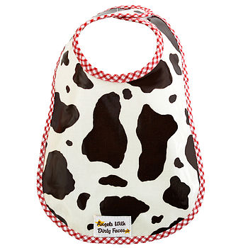COW PRINT OIL CLOTH BIB