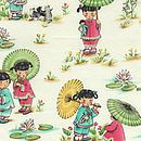 CHINA DOLLS OIL CLOTH BIB