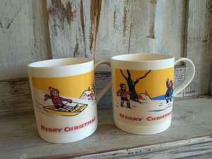 Christmas Card Mugs