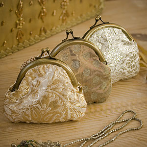 Brocade Clip Purse