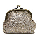 Brocade Clip Purse Gold