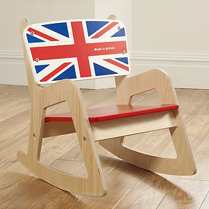 Royal Baby Cambridge Wooden Rocking Chair - children's room