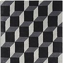 Geometric Rug Grey Block Design
