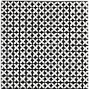 Geometric Rug Black & White Cross Design