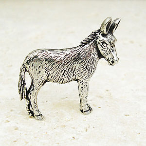 Donkey Mule Tie Pin Antiqued Pewter