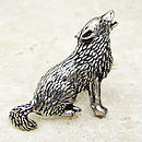 Wild Wolf Tie Pin Antiqued Pewter