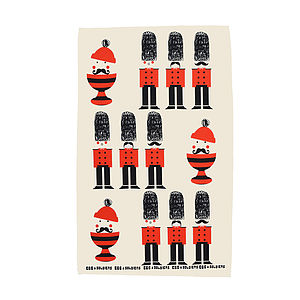 Egg And Soldiers Cotton Tea Towel - kitchen linen