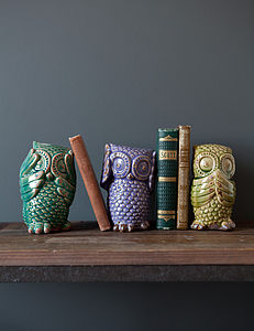 Set Of Three See No Evil Hear No Evil Owls - office & study