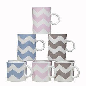 Chevron Mugs - crockery & chinaware