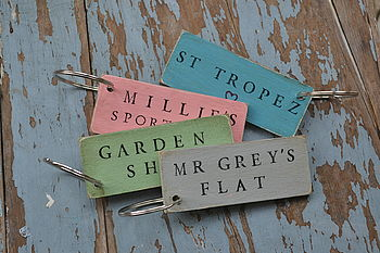 Coloured Personalised Keyring