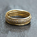 Pave Diamante Hammered Gold Ring