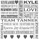 Personalised Anniversary Print - Grey