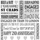 Personalised Anniversary Print - Black