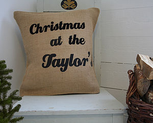 Rustic Family Cushion Cover - cushions