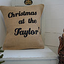 Rustic Family Cushion Cover